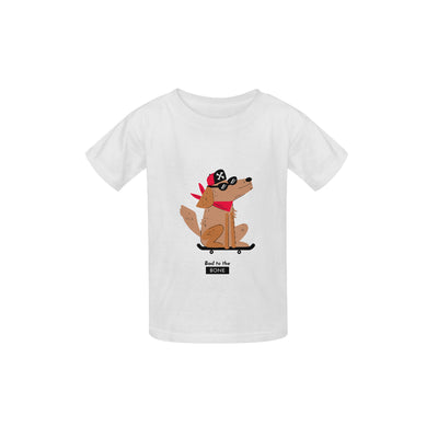 Bad to the Bone Kids T-shirt | XL / white Kid's  Classic T-shirt (Model T22) | Children's T-Shirt | JacksonsRunaway
