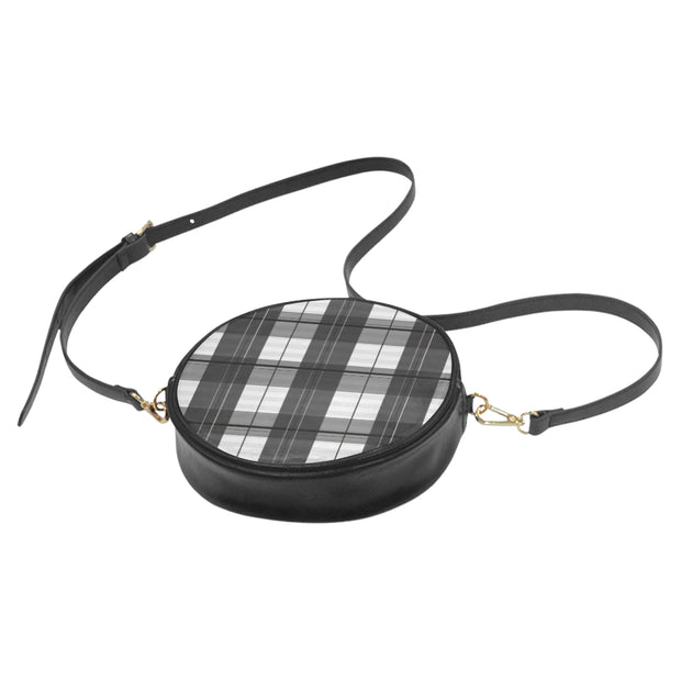white-plaid Round Sling Bag (Model 1647) |  | Round Sling Bag (1647) | JacksonsRunaway