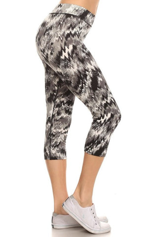 Abstract Capri Leggings   Jacksons Runaway    1