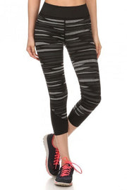 Striped Yoga Capri Women's Leggings |  | Activewear | JacksonsRunaway