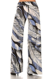 Palazzo Pants   Chic Feather Print   Jacksons Runaway