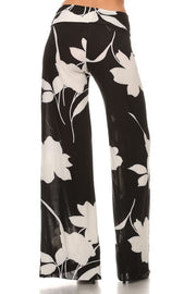 Flowing Leaves Print Palazzo Pants   Jacksons Runaway    2