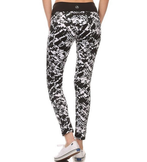 Geometric Pattern Full Pant Athletic Leggings   Jacksons Runaway    1