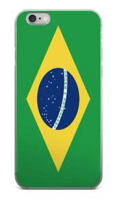 Flag of Brazil Protective iPhone Case (For all iPhone Models) | Brasil / iPhone 6 Plus/6s Plus / Green/Yellow | Cellphone Accessories | JacksonsRunaway