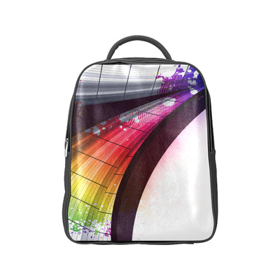 Abstract Faux Leather Backpack Bag | One Size | Popular Backpack (1622) | JacksonsRunaway