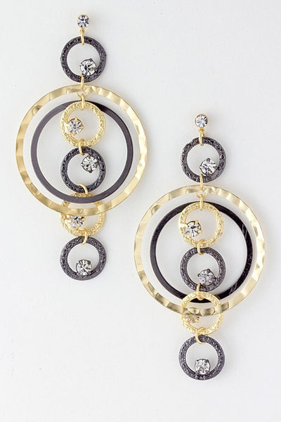 Statement Chandelier Earrings - Gold and Silver | JacksonsRunaway