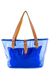"""Clear The Way"" Vinyl Tote Bag With Matching Pouch 
