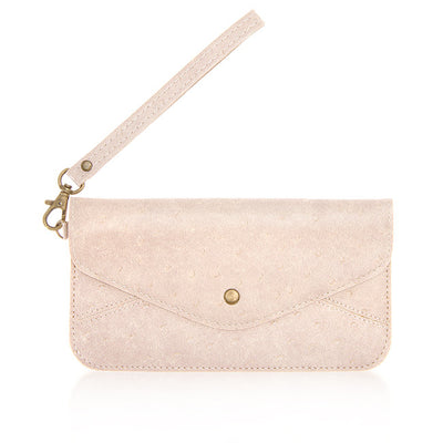 Amanda Wristlet Clutch Purse | Blush | Handbag/Clutch | JacksonsRunaway