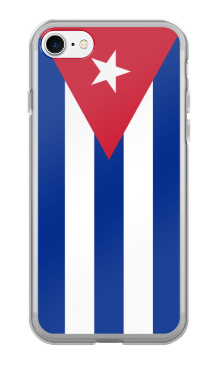 Flag of Cuba Protective iPhone Case (For all iPhone 5,6,7 Models) | Cuba / iPhone 6 Plus/6S Plus / Red/White/Blue | Cellphone Accessories | JacksonsRunaway
