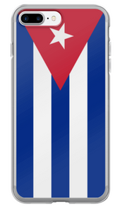 Flag of Cuba Protective iPhone Case (For all iPhone 5,6,7 Models) | Cuba / iPhone 7 Plus / Red/White/Blue | Mobile Phone Cases | JacksonsRunaway