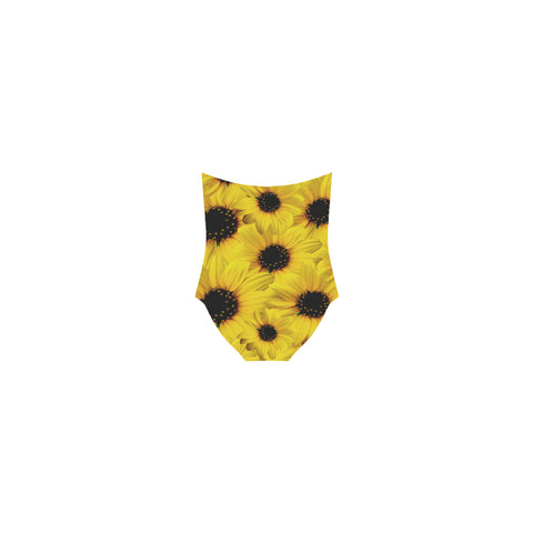 Sunflower Strap Swimsuit
