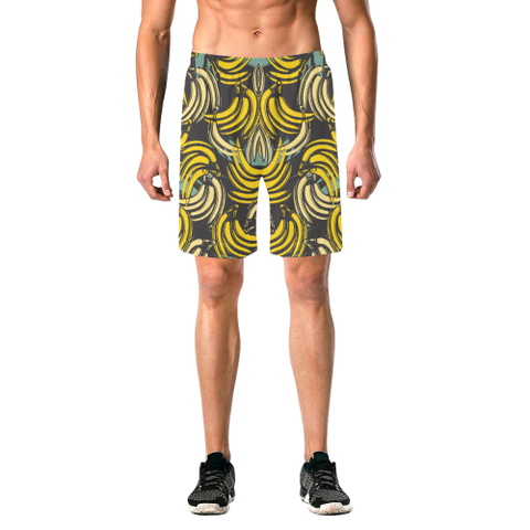 Banana Men's Elastic Swim Trunks