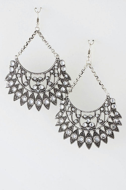 Delicate Details Chandelier Earrings - Silver | JacksonsRunaway