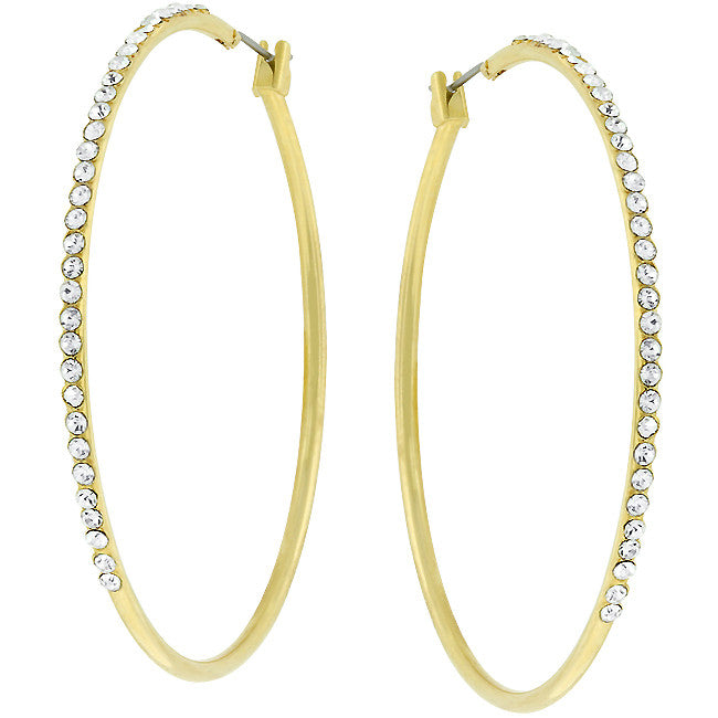 Endless Loop Hoop Earrings - Gold | JacksonsRunaway