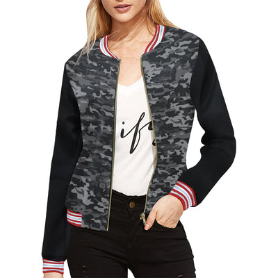 Weekend Viber Women's Camo Jacket | XXL / Camo Gray All Over Print Jacket for Women (Model H21) | Outerwear | JacksonsRunaway
