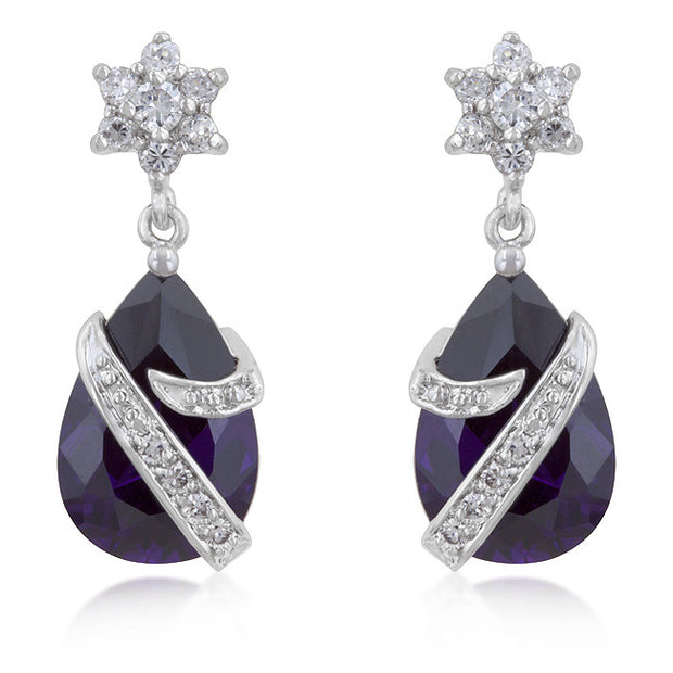Kiss N  Tell Drop Statement Earrings - Amethyst | JacksonsRunaway
