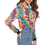TyeDye Print Crop Hoodie | XXL | All Over Print Crop Hoodie for Women (H22) | JacksonsRunaway