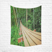 "Jungle Cotton Linen Wall Tapestry 60""x 80"""