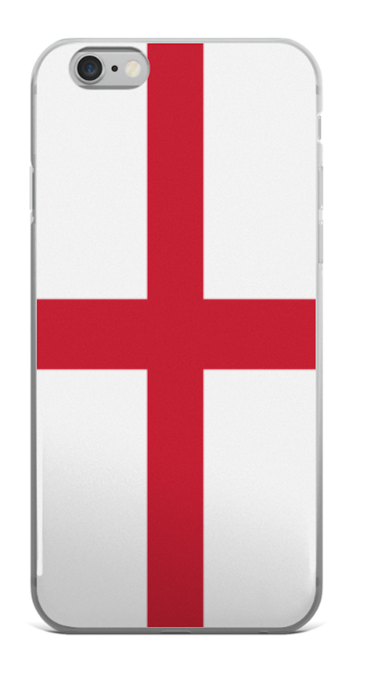 Flag of England Protective iPhone Case (For all iPhone All Models) | England / iPhone X/XS / Red/White | Mobile Phone Cases | JacksonsRunaway