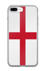 Flag of England Protective iPhone Case (For all iPhone All Models) | England / iPhone 7 Plus/8 Plus / Red/White | iPhone Accessories | JacksonsRunaway