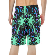 Palm Tree Men's Print Board Shorts |  | swimwear | JacksonsRunaway