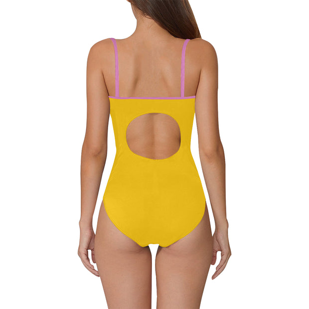 Yellow Strap Swimsuit