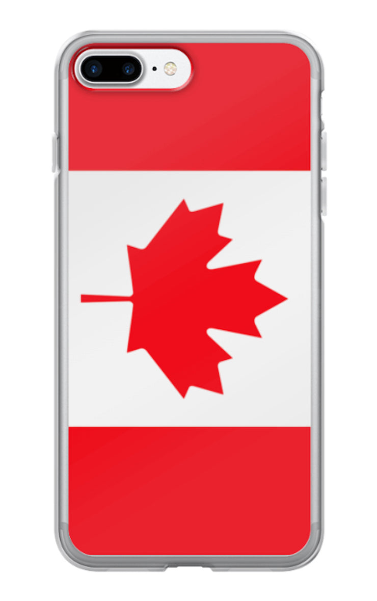 Flag of Canada Protective iPhone Case (For all iPhone 5,6,7 Models) | iPhone 7 Plus | Mobile Phone Cases | JacksonsRunaway