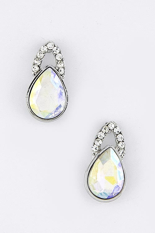 Good As Noveau Statement Earrings - Crystal | JacksonsRunaway