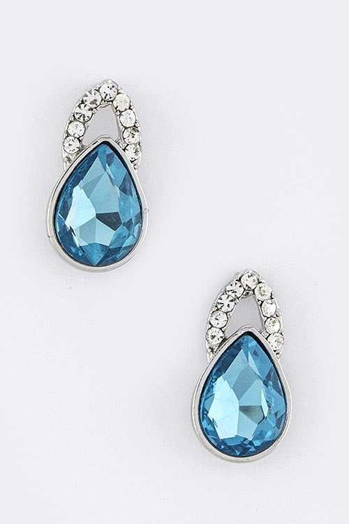Good As Noveau Statement Earrings - Blue | JacksonsRunaway