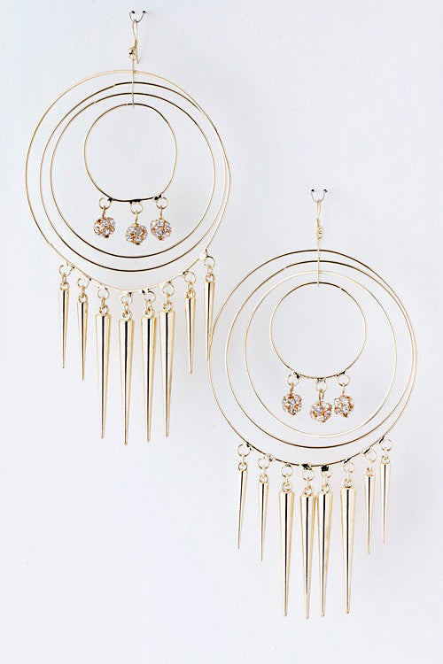Go For A Spike Statement Earrings - Jacksons Runaway