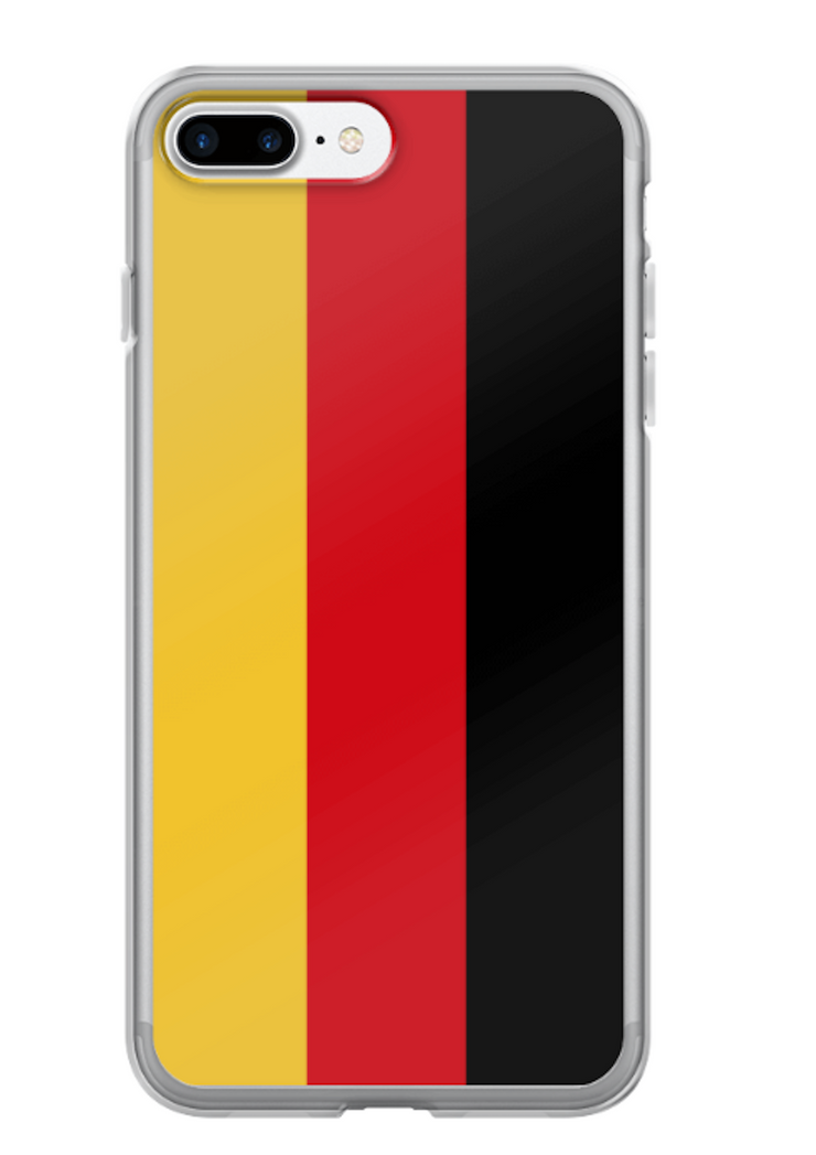 Flag of Germany Protective iPhone Case (For all iPhone Models) | Germany / iPhone 7 Plus/8 Plus / Black/Red/Gold | Cellphone Accessories | JacksonsRunaway