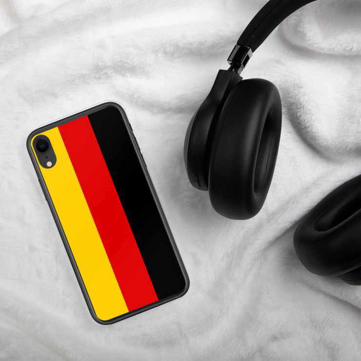 Flag of Germany Protective iPhone Case (For all iPhone Models) | Germany / iPhone XR / Black/Red/Gold | Cellphone Accessories | JacksonsRunaway