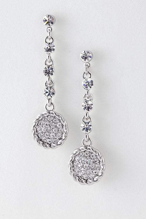 Have A Ball Drop Earrings - Silver | JacksonsRunaway