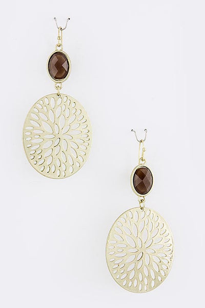 Ornamental Outdoors Drop Earrings - Gold | JacksonsRunaway
