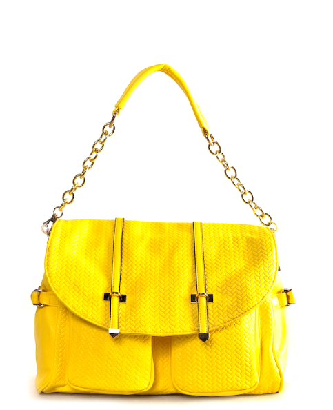 Emma Chain Strap Shoulder Handbag | Yellow | Handbag/Clutch | JacksonsRunaway