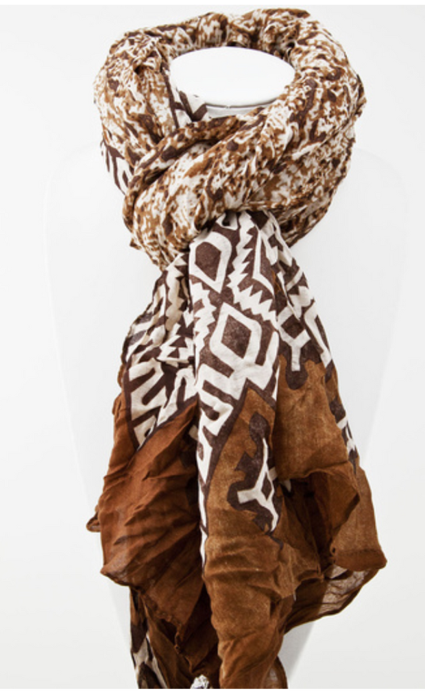 Lets Go Tribal Oversized Lightweight Scarf   Jacksons Runaway