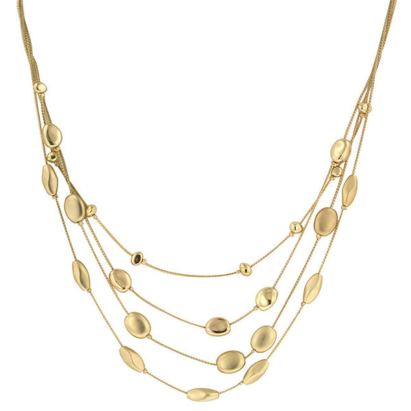 Golden Limits Gold Layered Necklace   Jacksons Runaway    1