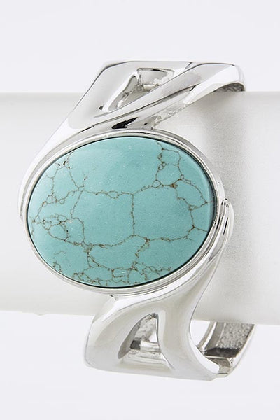Other Way Round Cuff | Turquoise/Silver | Jewelry | JacksonsRunaway