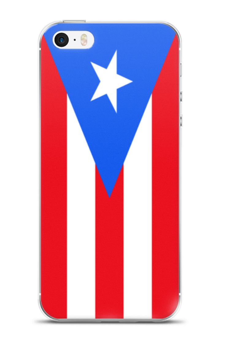Flag of Puerto Rico Protective iPhone Case (For all iPhone 5,6,7 Models) | Puerto Rico / iPhone 6 Plus/6S Plus / Red/White/Blue | Mobile Phone Cases | JacksonsRunaway