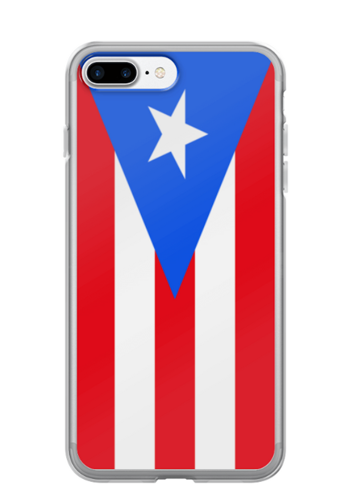 Flag of Puerto Rico Protective iPhone Case (For all iPhone 5,6,7 Models) | Puerto Rico / iPhone 7 Plus / Red/White/Blue | Mobile Phone Cases | JacksonsRunaway
