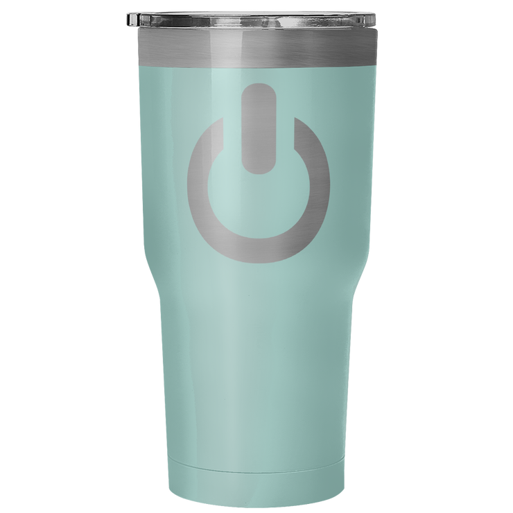 Power On 30 Ounce Vacuum Tumbler | 30 Ounce Vacuum Tumbler - Teal | Tumblers | JacksonsRunaway