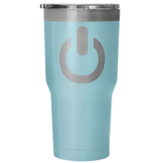 Power On 30 Ounce Vacuum Tumbler | 30 Ounce Vacuum Tumbler - Light Blue | Tumblers | JacksonsRunaway