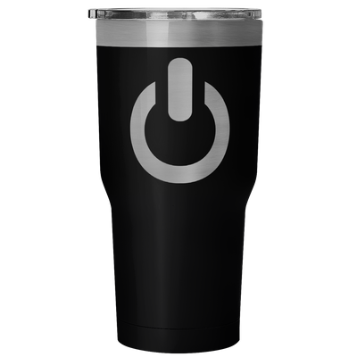 Power On 30 Ounce Vacuum Tumbler | 30 Ounce Vacuum Tumbler - Black | Tumblers | JacksonsRunaway