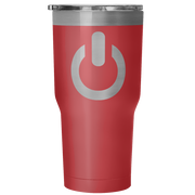 Power On 30 Ounce Vacuum Tumbler | 30 Ounce Vacuum Tumbler - Red | Tumblers | JacksonsRunaway
