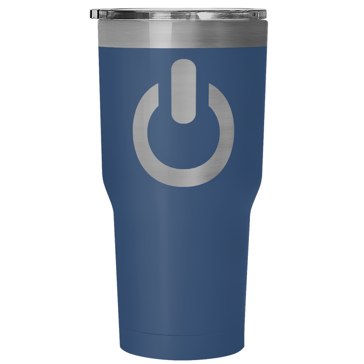 Power On 30 Ounce Vacuum Tumbler | 30 Ounce Vacuum Tumbler - Blue | Tumblers | JacksonsRunaway
