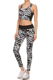 Geometric Pattern Full Pant Athletic Leggings   Jacksons Runaway    4