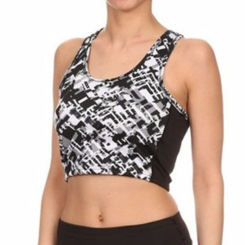 Geometric Pattern Athletic Sports Bra   Jacksons Runaway    1