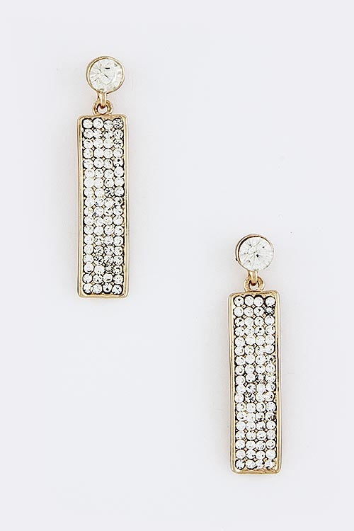 Time To Shine Crystal Drop Earrings