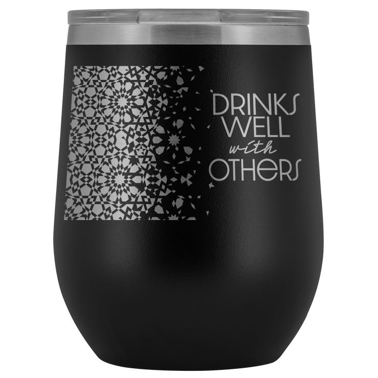 Well With Others Tumbler | Black | Wine Tumbler | JacksonsRunaway