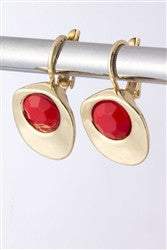 Beauty Nook Drop Earrings | Red | Earrings | JacksonsRunaway